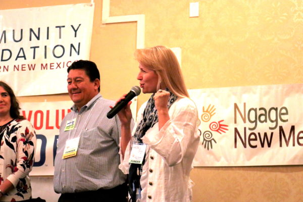 Speaker on microphone at Nonprofit Conference