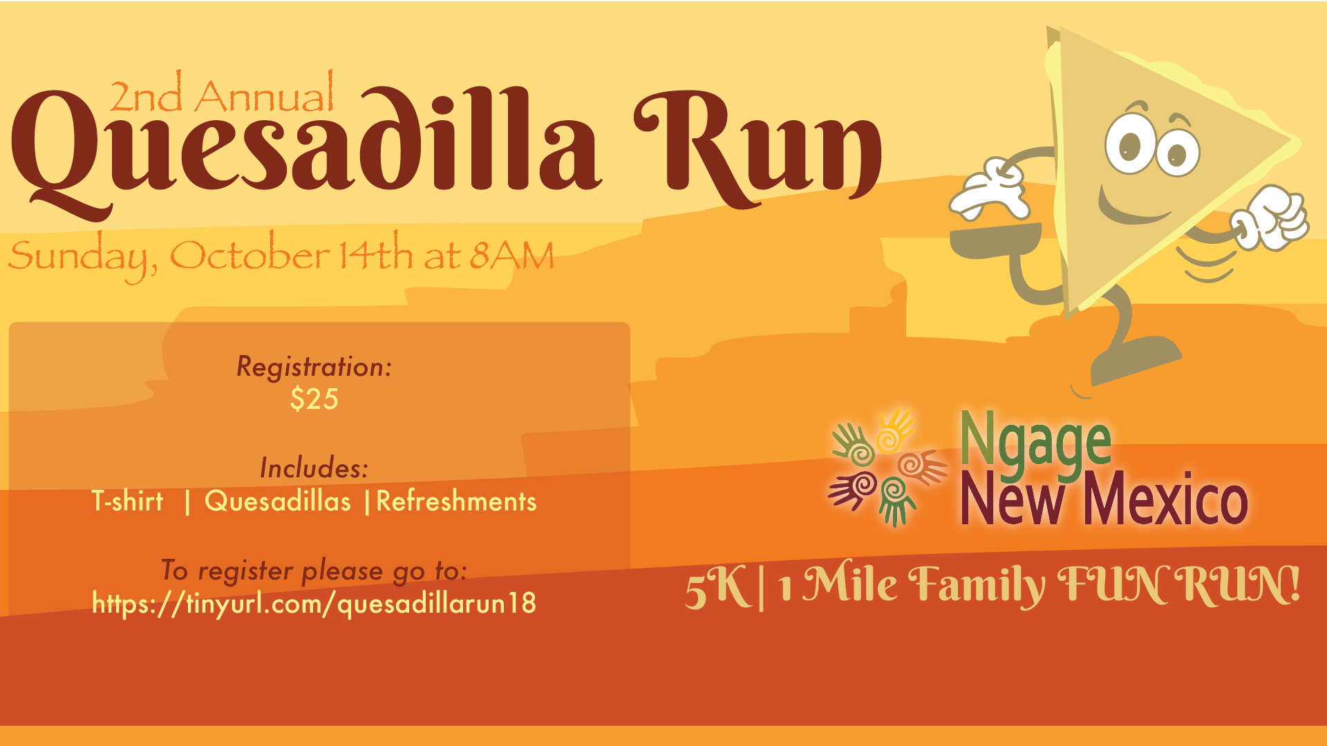 2nd Annual Quesadilla Run Flyer